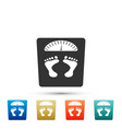 bathroom scales with footprints icon isolated vector image