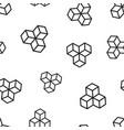 blockchain technology icon seamless pattern vector image