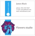 blue floral design business card vector image