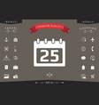 calendar symbol icon vector image