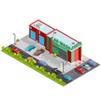 Car Wash Isometric Composition vector image vector image