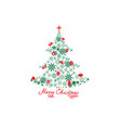 christmas background with new year tree snow and vector image vector image