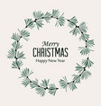 christmas frame with pine branches vector image vector image