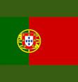 closeup portugal flag vector image vector image