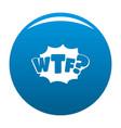 comic boom wtf icon blue vector image