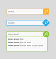 creative of search bar boxes vector image vector image