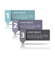 Design Template wth Three Elements vector image vector image