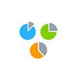 diagram stock market business logo icon design vector image