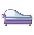 fashioned sofa icon cartoon style vector image