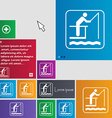 fishing icon sign buttons Modern interface website vector image vector image