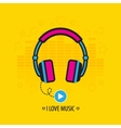 Flat headphones vector image