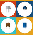 flat icon electronics set of resist triode vector image vector image