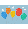 flat style balloons infographic