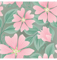 flower seamless summer pattern floral garden tile vector image vector image