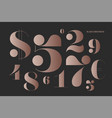 font numbers in classical french didot style vector image vector image