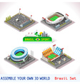 Game Set 09 Building Isometric vector image vector image
