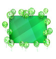 green background balloon with stars for greeting vector image vector image