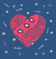 greeting card or print for valentines day or vector image vector image