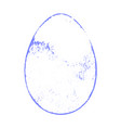 grunge color egg vector image vector image