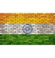 Grunge flag of India on a brick wall vector image vector image