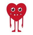 heart with a smile vector image vector image
