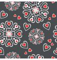 hearts seamless pattern vector image vector image