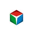 hexagon star logo template design eps 10 vector image vector image