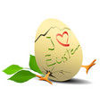 i love easter holiday background vector image vector image