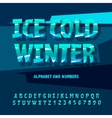 Ice letters and numbers vector image vector image