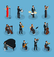 isometric people in orchestra collection vector image