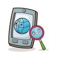 Kawaii cartoon Technology and Social media vector image vector image