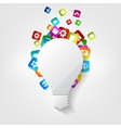 Light bulb icon Application button vector image vector image