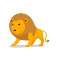 Lion cartoon minimalistic vector image