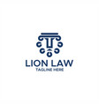 lion law abstract logo vector image vector image