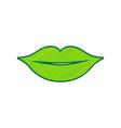 lips sign lemon scribble vector image