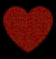 love heart halftone icon vector image