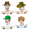 Men sketches vector image