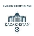 Merry Christmas Kazakhstan vector image vector image