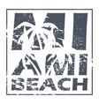miami beach poster vector image vector image