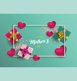 mothers day card of pink decoration for mom gift vector image vector image