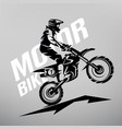 motocross stylized symbol design elements for vector image vector image