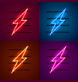 neon sign of lightning signboard vector image