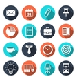 Office Icons with Shadow vector image vector image