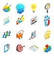 Office work set icons isometric 3d style vector image vector image