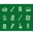 painter drawing and painting icons vector image