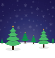 pine tree christmas vector image vector image