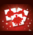presents gifts box with ribbon bow vector image vector image