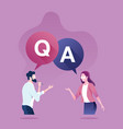 question and answer concept vector image