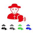 sad believer confession icon vector image vector image