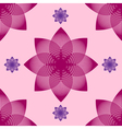 Seamless abstract flower pattern vector image